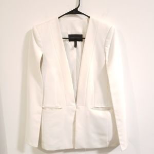 BCBGMAXAZRIA white cape blazer